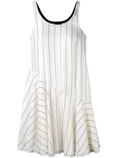 полосатое платье с рюшами Giorgio Armani