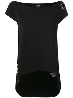 футболка с принтом-логотипом Ea7 Emporio Armani