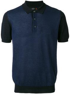 футболка-поло с контрастными панелями Corneliani