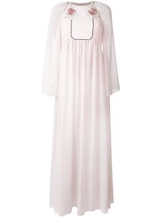 длинное платье с розами Giamba