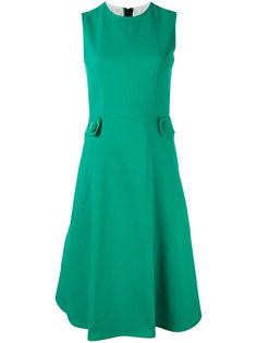 расклешенное платье с ремешками Marni