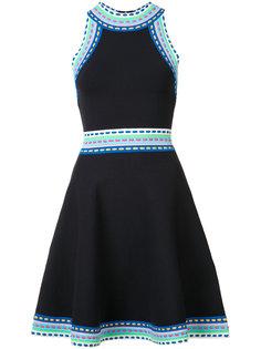 расклешенное платье с контрастной окантовкой Milly