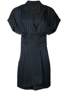 платье в тонкую полоску Alexandre Vauthier