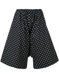 расклешенные шорты с узором в горох Comme Des Garçons Comme Des Garçons