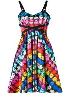 мини-платье с принтом лиц Jeremy Scott