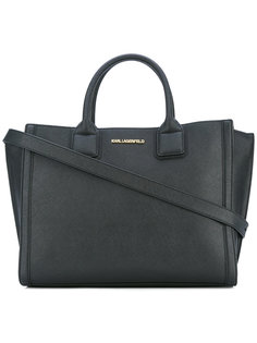сумка-тоут с бляшкой с логотипом Karl Lagerfeld