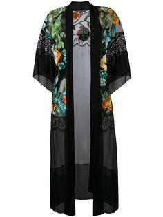 легкое пальто с цветочным узором Alberta Ferretti