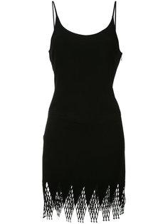 платье с ажурным подолом  Paco Rabanne