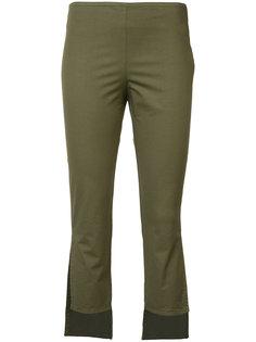 асимметричные укороченные брюки Hache