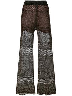 двухслойные брюки с люрексом Circus Hotel