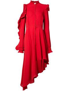 асимметричное платье с рюшами Magda Butrym