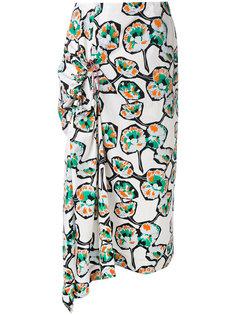 драпированная юбка с узором Marni