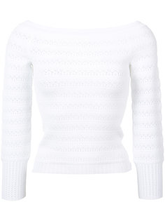 off-shoulder fitted jumper Oscar de la Renta