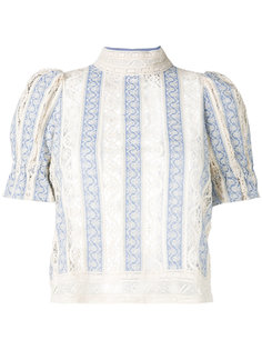 victorian style stripe blouse Sea