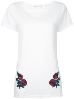 flower embroidered long T-shirt Maison Mihara Yasuhiro