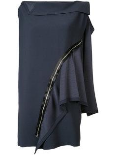 flat combination zip dress Issey Miyake