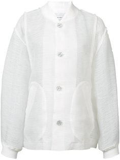 прозрачная куртка-бомбер Julien David