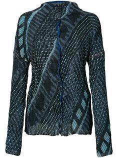 tribal print jacket Issey Miyake