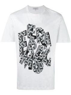 футболка с принтом в виде букв Salvatore Ferragamo