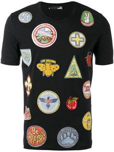 футболка с комбинированным принтом Love Moschino