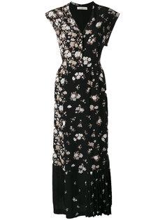 длинное платье лоскутного кроя Golden Goose Deluxe Brand