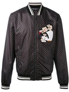 куртка-бомбер  с узором в горох Dolce & Gabbana