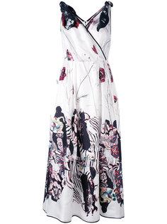 расклешенное платье с графическим принтом Antonio Marras