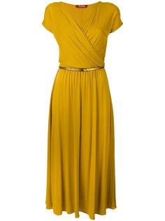 платье с запахом и поясом Max Mara Studio
