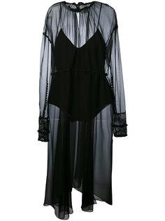 sheer high neck dress Magda Butrym