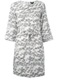 платье с абстрактным принтом и поясом A.P.C.