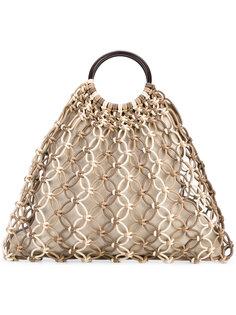 плетеная сумка-тоут Michael Kors