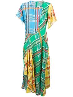 checked panel dress Preen By Thornton Bregazzi
