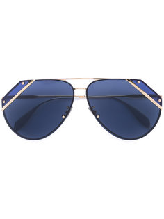 солнцезащитные очки со скошенными краями Alexander McQueen
