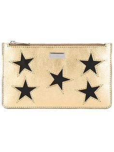 металлизированный кошелек со звездами Stella McCartney