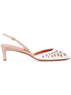 туфли с декоративной перфорацией Santoni