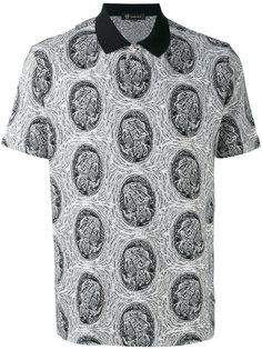 рубашка-поло с фирменным узором Versace