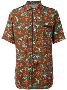 рубашка с короткими рукавами и принтом птиц Junya Watanabe Comme Des Garçons Man