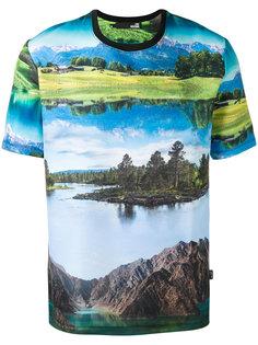 футболка с принтом-пейзажем Love Moschino