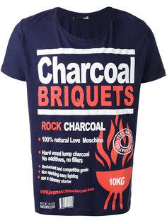 футболка с принтом charcoal  Love Moschino
