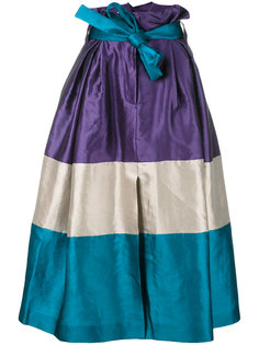 пышная полосатая юбка Alberta Ferretti