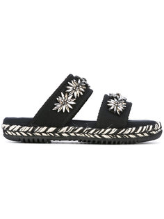 сандалии с вышивкой Marni