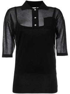 полупрозрачная футболка-поло Moncler