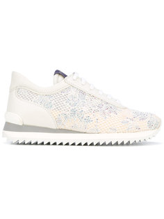 embellished lace trainers Le Silla