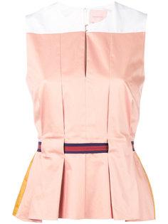 sleeveless belted blouse Roksanda