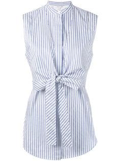 полосатая рубашка с поясом Helmut Lang