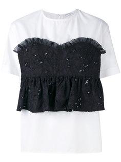 блузка с имитацией вышитого корсета Vivetta