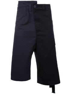 асимметричные шорты  Maison Mihara Yasuhiro