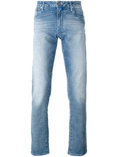 джинсы прямого кроя с потертой отделкой Jacob Cohen