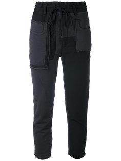 укороченные брюки в стиле пэчворк Haider Ackermann