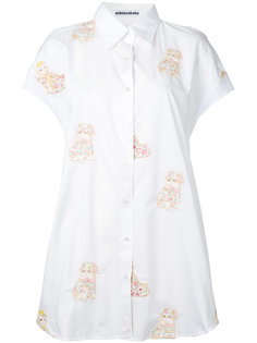 embroidered cat shirt  Mikio Sakabe